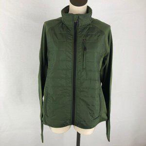 Orvis Green Mixed Media Full Zip Jacket Sz L